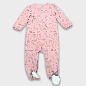 4/$20🥳 Pink Fleece Penguin Print Sleeper